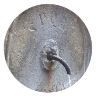 Ancient Roman public water fountain Plate
