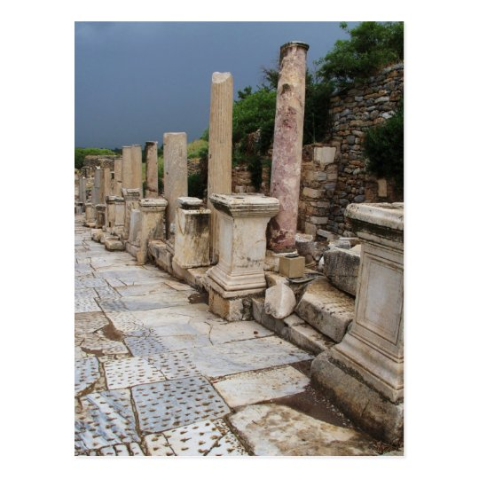 Ancient Roman road in the city of Ephesus,