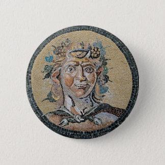 Ancient Roman Satyr Mosaic 6 Cm Round Badge