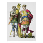 Ancient Roman Standard Bearer and General Poster