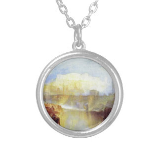 Ancient Rome Agrippina Landing with the Ashes Round Pendant Necklace