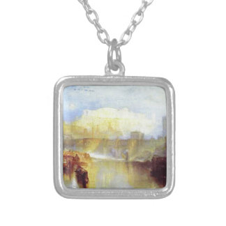 Ancient Rome Agrippina Landing with the Ashes Square Pendant Necklace