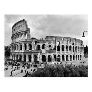Ancient Rome Colosseum Black & White Postcard