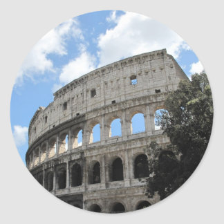 Ancient Rome Colosseum Classic Round Sticker