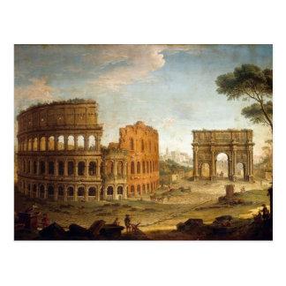 Ancient Rome Colosseum Postcard