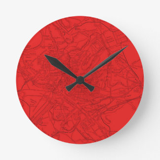 Ancient Rome in Red Round Clock