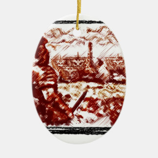 Ancient Rome -  Naval fleet is coming Christmas Ornament