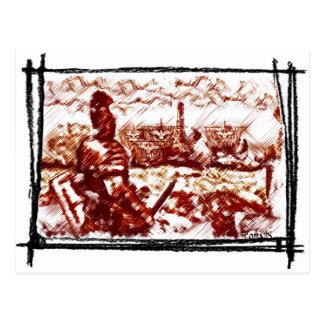 Ancient Rome -  Naval fleet is coming Postcard