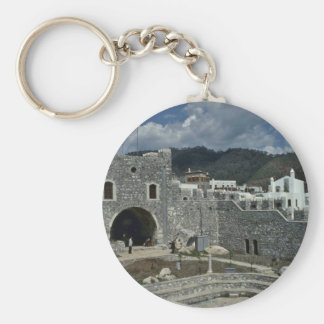 Ancient Ruins In Modern World Basic Round Button Key Ring