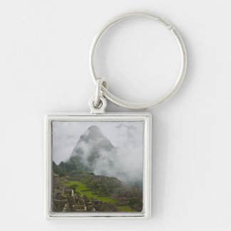 Ancient ruins of Machu Picchu with Andes Key Chains
