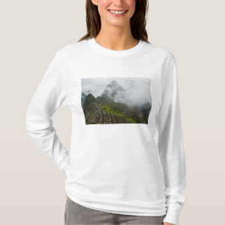Ancient ruins of Machu Picchu with Andes T-Shirt
