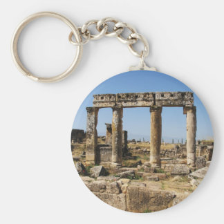 Ancient Ruins Pictures APOLLO'S TEMPLE Basic Round Button Key Ring