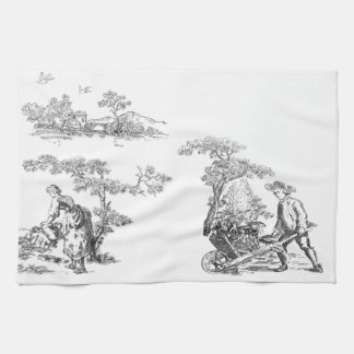 Ancient rural artwork hand towels