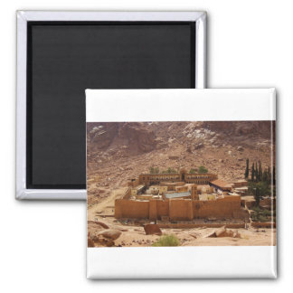 Ancient Saint Catherine's Monastery Sinai Egypt Square Magnet