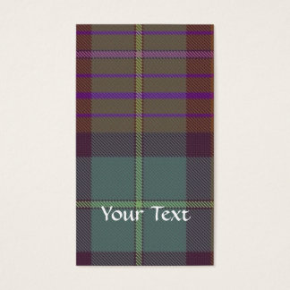 Ancient Scottish tartan Business Card