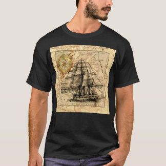 Ancient Ship Map T-Shirt