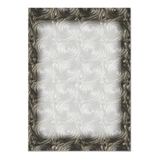 Ancient Silver Celtic Spiral Knots Pattern 13 Cm X 18 Cm Invitation Card