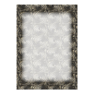 Ancient Silver Celtic Spiral Knots Pattern Invites