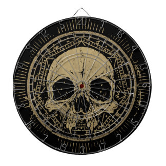 ANCIENT SKULL. DARTBOARD
