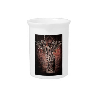Ancient Skull Wing Dead Zombie Beverage Pitchers
