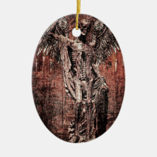 Ancient Skull Wing Dead Zombie Ceramic Oval Decoration