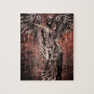 Ancient Skull Wing Dead Zombie Jigsaw Puzzle