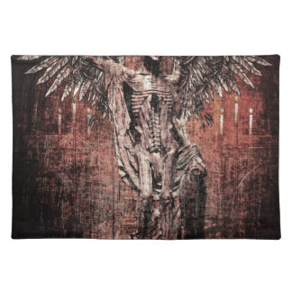 Ancient Skull Wing Dead Zombie Placemat