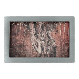 Ancient Skull Wing Dead Zombie Rectangular Belt Buckle
