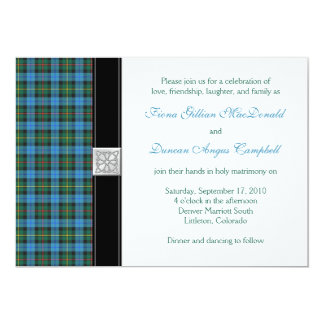 Ancient Smith Tartan Wedding Invitation