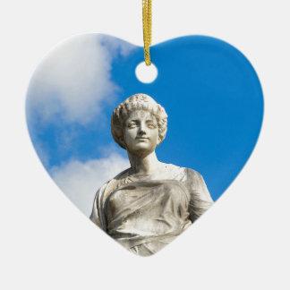 Ancient statue ceramic heart decoration