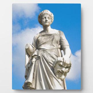 Ancient statue plaque