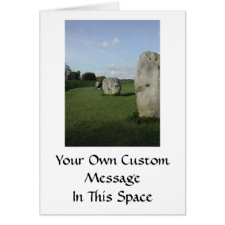 Ancient Stone Circle. Avebury, Wiltshire, England. Card