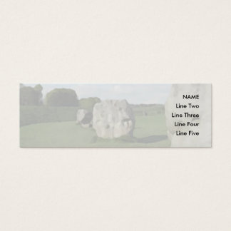 Ancient Stone Circle. Avebury, Wiltshire, England. Mini Business Card
