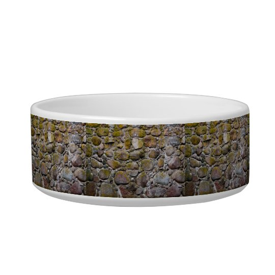 Ancient stone wall bowl