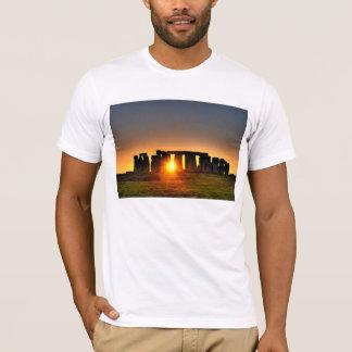 Ancient Stonehenge at dawn on white T-shirt