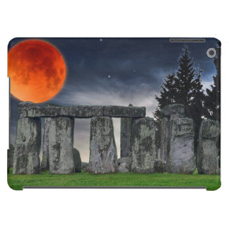 Ancient Stonehenge & Mystical Red Full Moon Cover For iPad Air