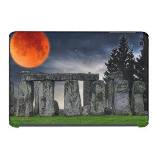 Ancient Stonehenge Mystical Red Full Moon iPad Mini Retina Cases
