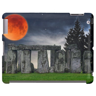 Ancient Stonehenge & Mystical Red Full Moon