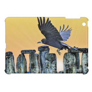 Ancient Stonehenge & Rook Corvid-lover's Gift Case For The iPad Mini