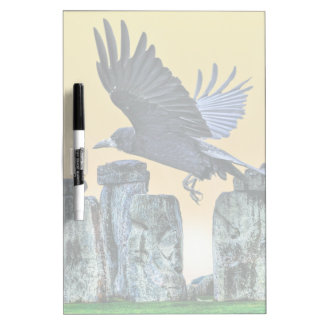 Ancient Stonehenge & Rook Corvid-lover's Gift Dry Erase Boards