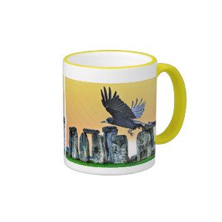 Ancient Stonehenge & Rook Corvid-lover's Gift Ringer Mug