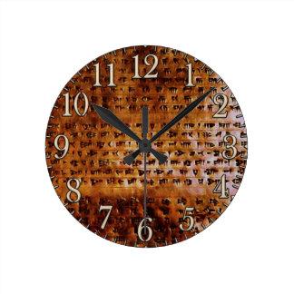 Ancient Sumerian Cuneiform Designer Clock