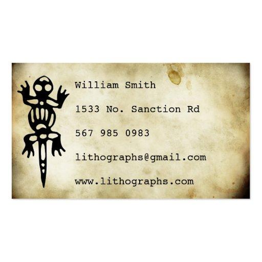 ancient symbols lithograph business card templates