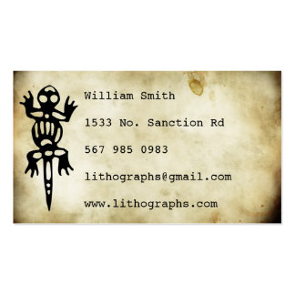ancient symbols lithograph business card templates