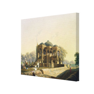Ancient Temple at Hulwud, from Volume I of 'Scener Canvas Print