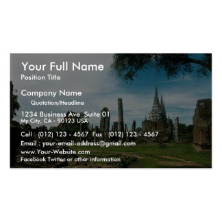 Ancient temple ruins, near Bangkok, Thailand Business Cards