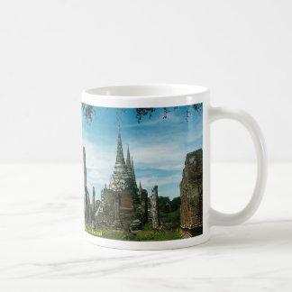Ancient temple ruins, near Bangkok, Thailand Coffee Mugs