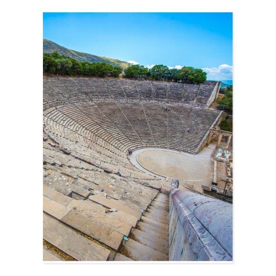 ancient theatre in Epidaurus, Argolis, Greece Postcard