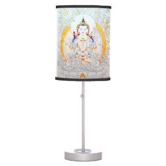 ANCIENT TIBETAN MURAL TABLE LAMP