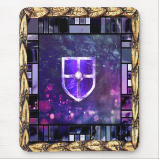 Ancient Tome Medieval Stained Glass Mouse Pad